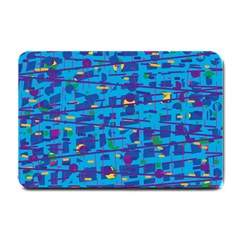 Blue decorative art Small Doormat