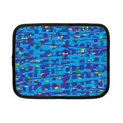 Blue decorative art Netbook Case (Small)