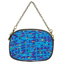 Blue decorative art Chain Purses (One Side)