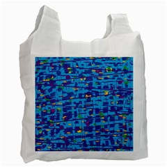 Blue decorative art Recycle Bag (Two Side)
