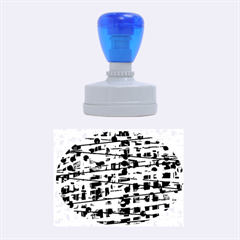 Blue decorative art Rubber Oval Stamps