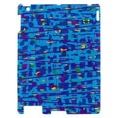 Blue decorative art Apple iPad 2 Hardshell Case
