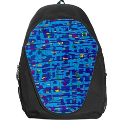 Blue decorative art Backpack Bag