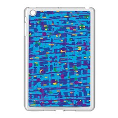 Blue decorative art Apple iPad Mini Case (White)