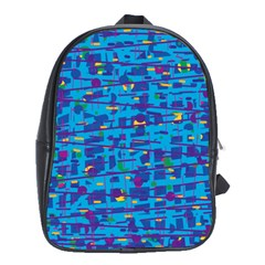 Blue decorative art School Bags (XL)