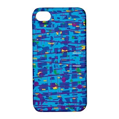 Blue decorative art Apple iPhone 4/4S Hardshell Case with Stand