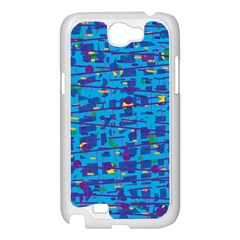 Blue decorative art Samsung Galaxy Note 2 Case (White)