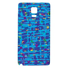 Blue decorative art Galaxy Note 4 Back Case