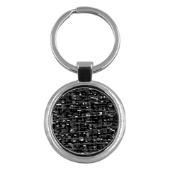 Simple gray Key Chains (Round)