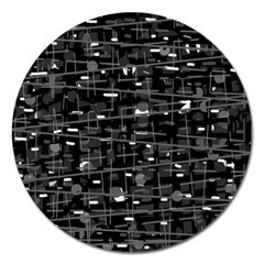 Simple gray Magnet 5  (Round)
