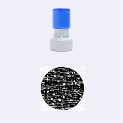 Simple gray Rubber Round Stamps (Small)