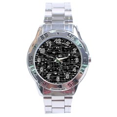 Simple gray Stainless Steel Analogue Watch