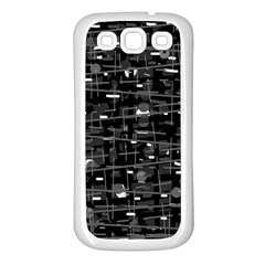 Simple gray Samsung Galaxy S3 Back Case (White)