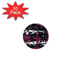 Magenta, white and gray decor 1  Mini Buttons (10 pack)