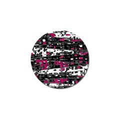 Magenta, white and gray decor Golf Ball Marker (4 pack)