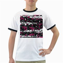 Magenta, white and gray decor Ringer T-Shirts