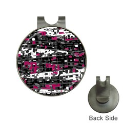 Magenta, white and gray decor Hat Clips with Golf Markers