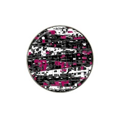 Magenta, white and gray decor Hat Clip Ball Marker (4 pack)
