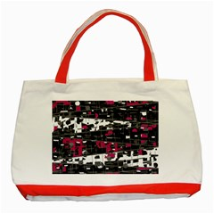 Magenta, white and gray decor Classic Tote Bag (Red)