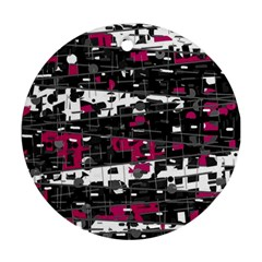 Magenta, white and gray decor Round Ornament (Two Sides)