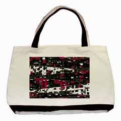 Magenta, White And Gray Decor Basic Tote Bag (two Sides)