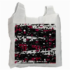 Magenta, white and gray decor Recycle Bag (Two Side)
