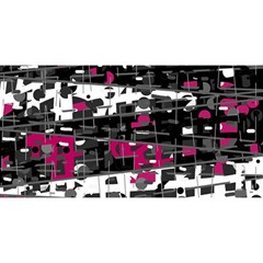 Magenta, white and gray decor YOU ARE INVITED 3D Greeting Card (8x4)