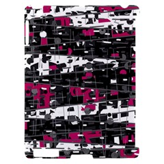 Magenta, white and gray decor Apple iPad 2 Hardshell Case (Compatible with Smart Cover)