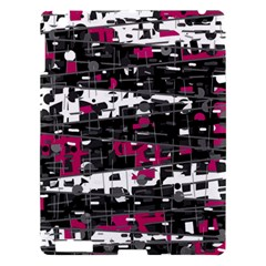 Magenta, white and gray decor Apple iPad 3/4 Hardshell Case