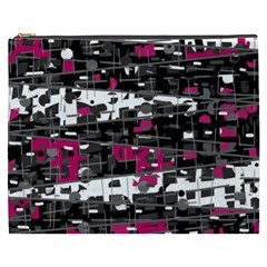 Magenta, white and gray decor Cosmetic Bag (XXXL)