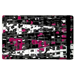 Magenta, white and gray decor Apple iPad 2 Flip Case