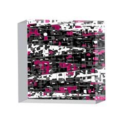 Magenta, white and gray decor 4 x 4  Acrylic Photo Blocks