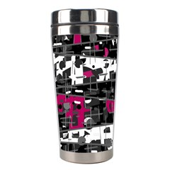 Magenta, white and gray decor Stainless Steel Travel Tumblers