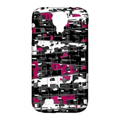 Magenta, white and gray decor Samsung Galaxy S4 Classic Hardshell Case (PC+Silicone)