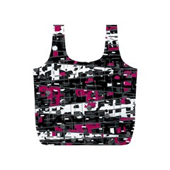 Magenta, white and gray decor Full Print Recycle Bags (S)