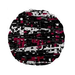 Magenta, white and gray decor Standard 15  Premium Flano Round Cushions