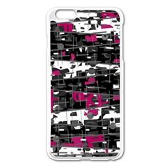 Magenta, white and gray decor Apple iPhone 6 Plus/6S Plus Enamel White Case