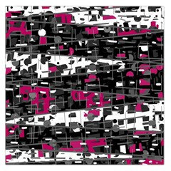 Magenta, white and gray decor Large Satin Scarf (Square)