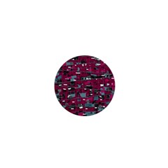 Magenta decorative design 1  Mini Magnets