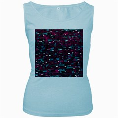 Magenta decorative design Women s Baby Blue Tank Top