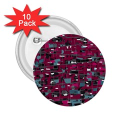 Magenta decorative design 2.25  Buttons (10 pack)