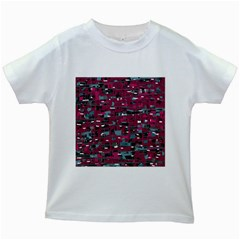 Magenta decorative design Kids White T-Shirts