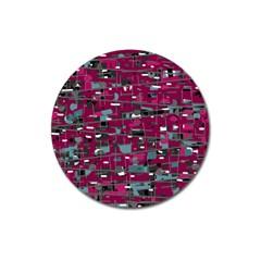 Magenta decorative design Magnet 3  (Round)