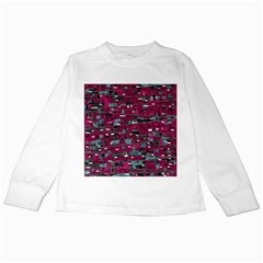 Magenta decorative design Kids Long Sleeve T-Shirts