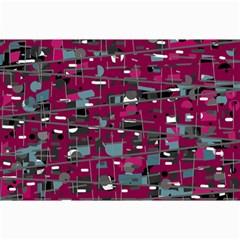 Magenta decorative design Collage Prints