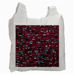 Magenta decorative design Recycle Bag (One Side)