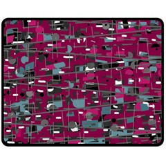 Magenta decorative design Fleece Blanket (Medium)