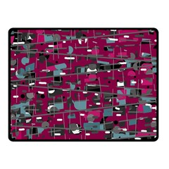 Magenta decorative design Fleece Blanket (Small)