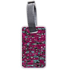 Magenta decorative design Luggage Tags (One Side)