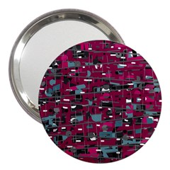 Magenta decorative design 3  Handbag Mirrors